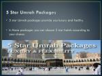 5 star umrah packages