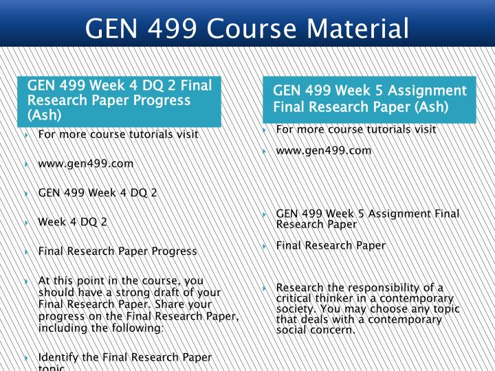 final research Final rule resources secondary research with identifiable information and biospecimens – gives an overview of the options for secondary research under the.