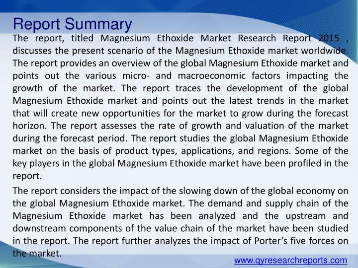 Report Summary