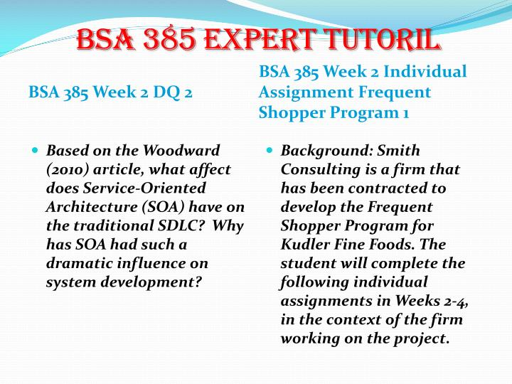 bsa 310 kudler fine foods week Essay on bsa 385 week2 this is ultimately to allow kudler fine foods to identify and reward long term customers essay on bsa 310 week 4.