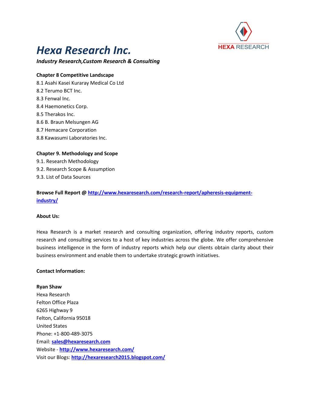 PPT - Apheresis Equipment Market Analysis, Market Size, Share