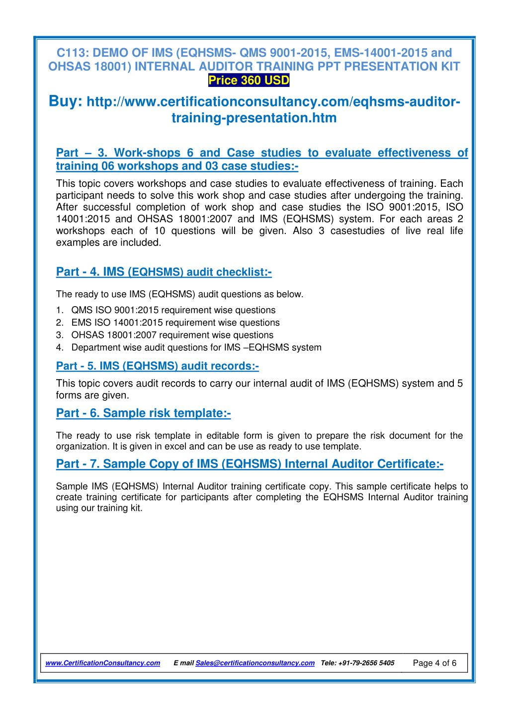 PPT - Auditor Training packages on EQHSMS PowerPoint Presentation