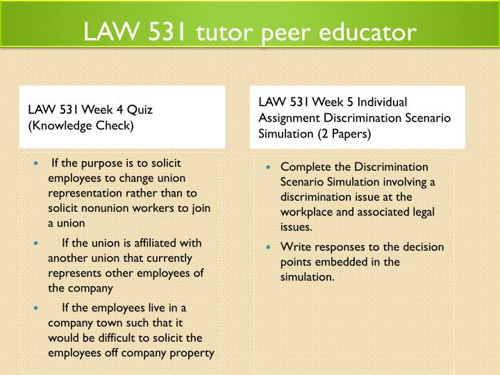 law 531 discrimination Check out our top free essays on law 531 discrimination to help you write your own essay.