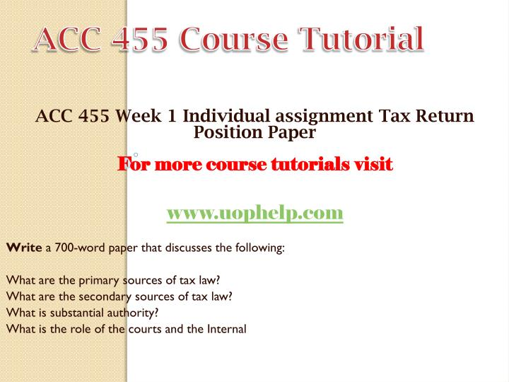 assignment on taxation