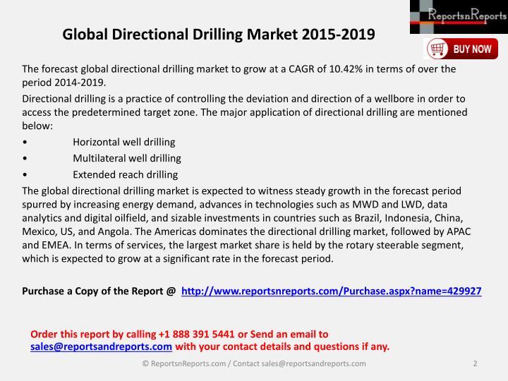 Global directional drilling market 2015 20191