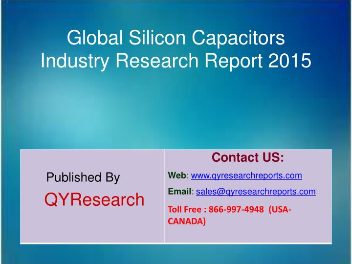 Global Silicon Capacitors