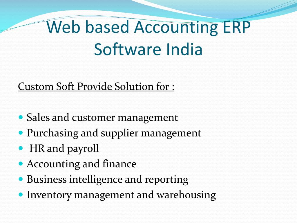PPT - Web Based Accounting Software India PowerPoint