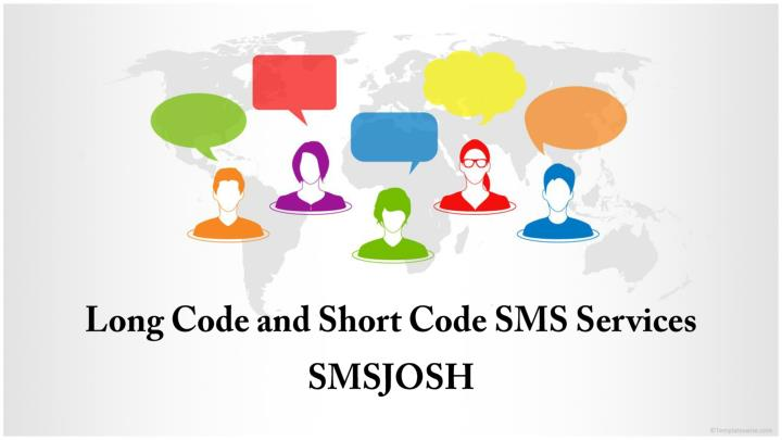 Long code and short code sms services