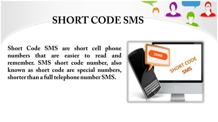 Short code sms