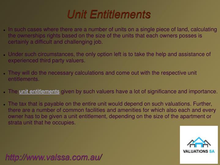 Unit Entitlements