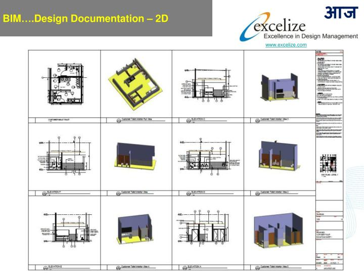 BIM….Design Documentation – 2D