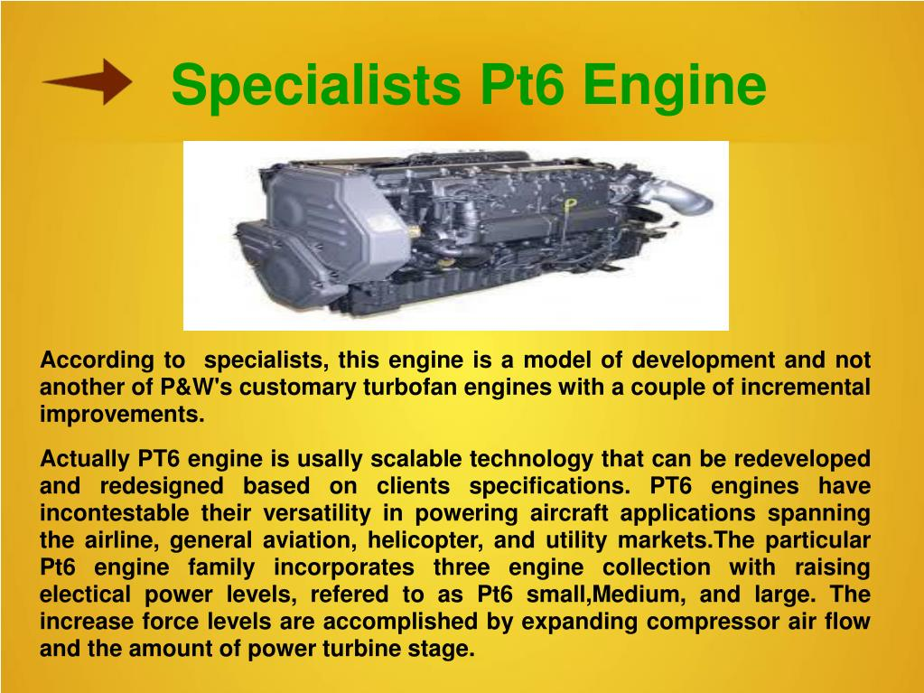PPT - Latest Pt-6 Engine and Pw100 Engine PowerPoint Presentation