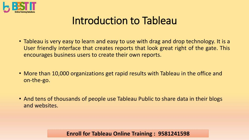 PPT - Tableau introduction & Overview PowerPoint Presentation, free download - ID:7237512