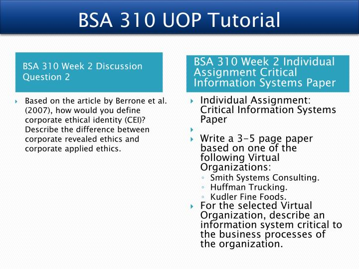 bsa310 week 2 team Bsa 310 week 5 learning team service request sr-rm-012 paper and presentation click following link to purchase.