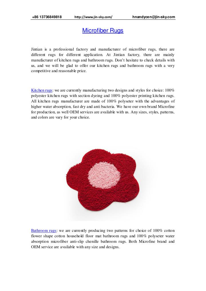 PPT - microfiber rugs PowerPoint Presentation, free download ...