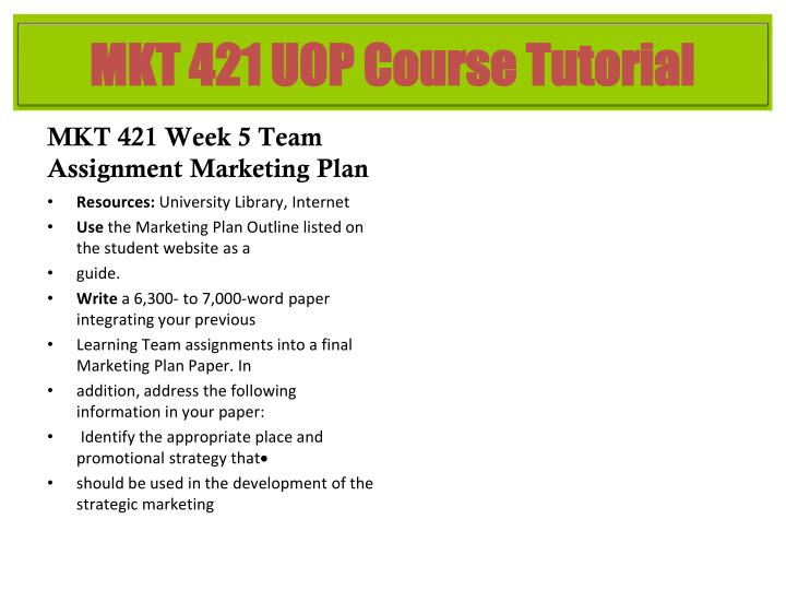 marketing plan powerpoint mkt 421