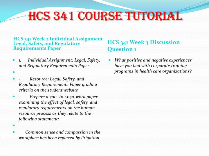 examination of the effect of legal safety and regulatory requirements on human resource process