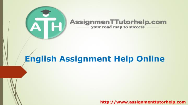 English Assignment Help Online