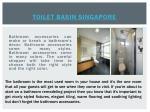 toilet basin singapore