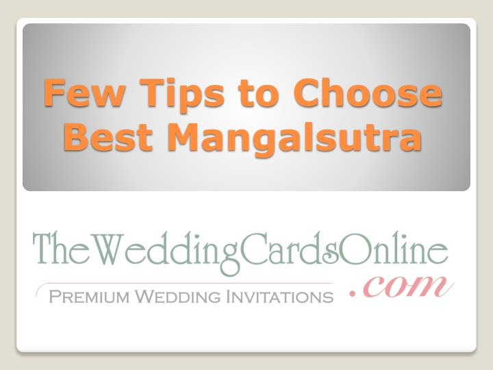 few tips to choose best mangalsutra n.