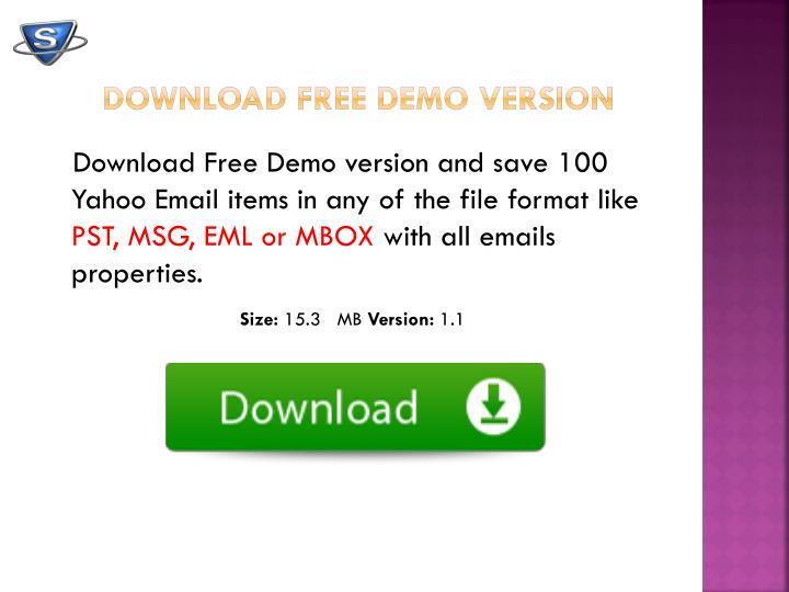 Download Free Demo version