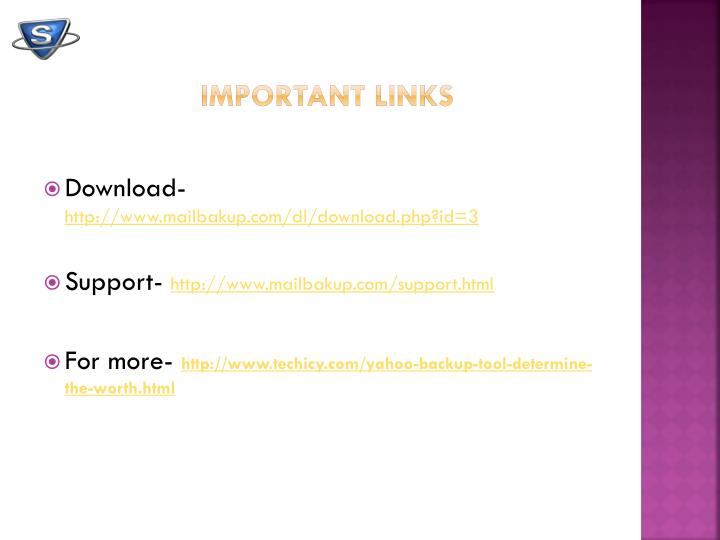 Important links