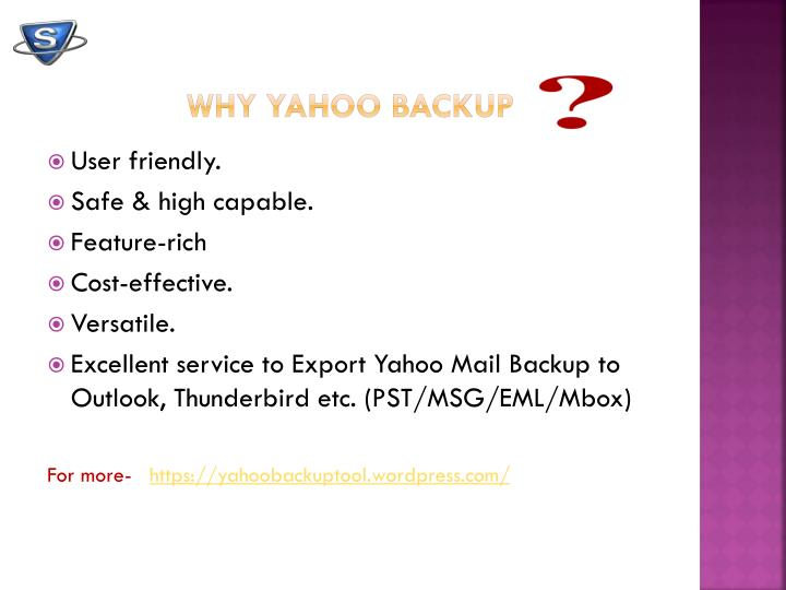 Why Yahoo Backup