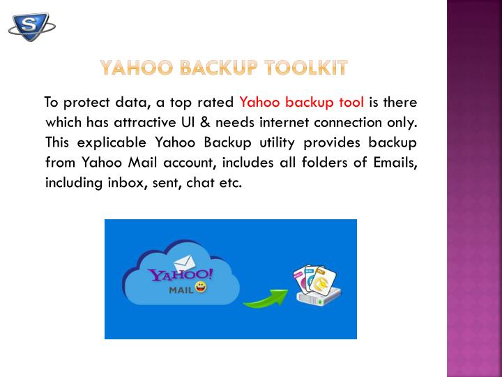 Yahoo backup toolkit