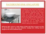 bathroom sink singapore