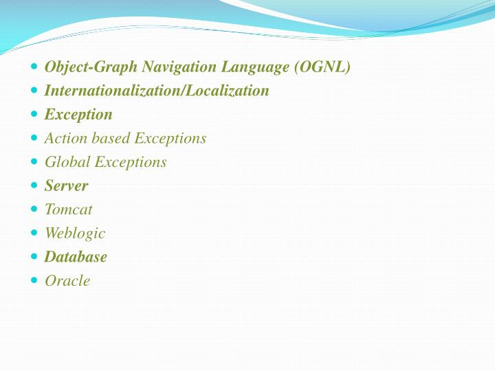 Object-Graph Navigation Language (OGNL)