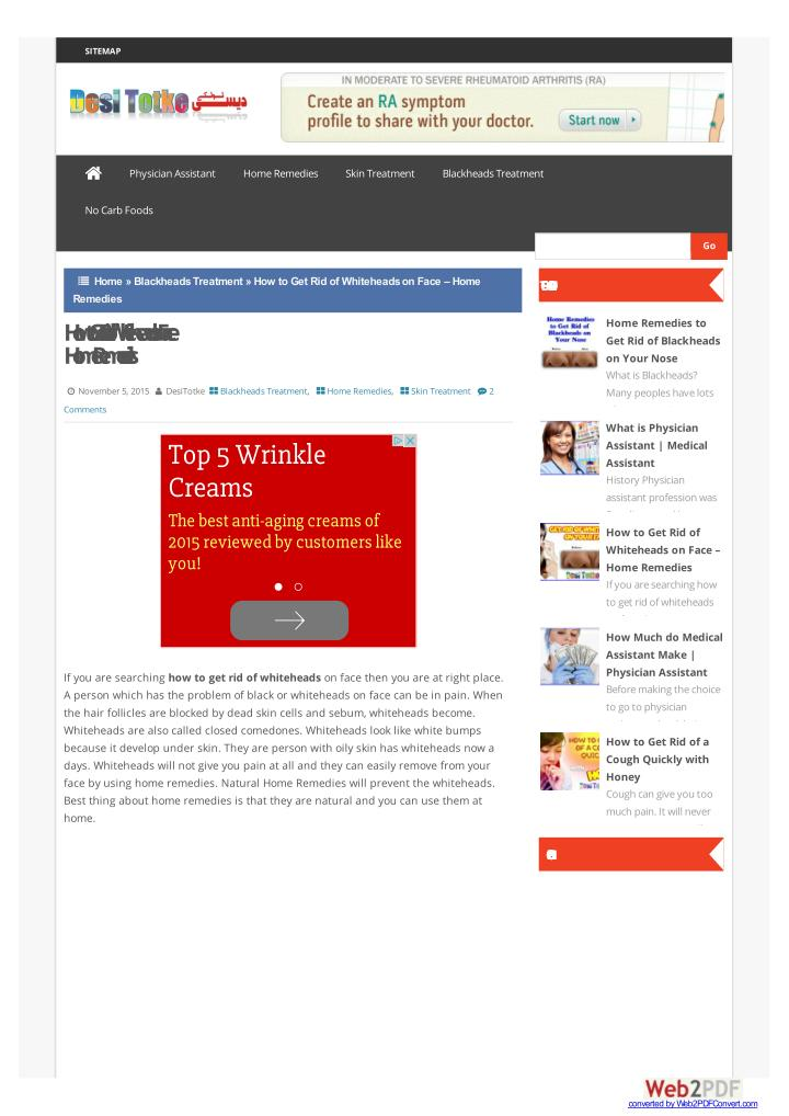 PPT - How to Get Rid of Whiteheads PowerPoint Presentation - ID:7239193