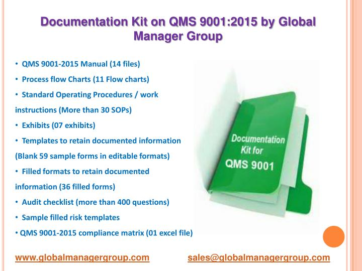 Ppt Overview On Qms 90012015 Quality Management System