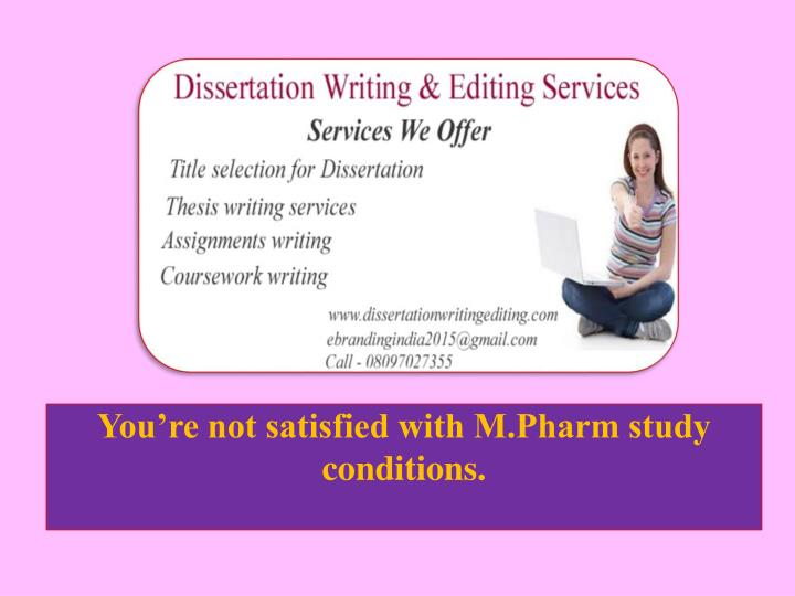 m.pharm dissertation ppt