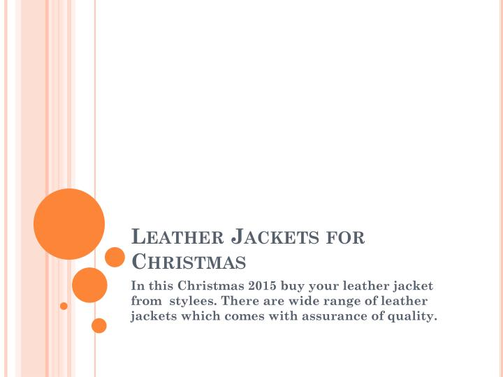 leather jackets for christmas n.