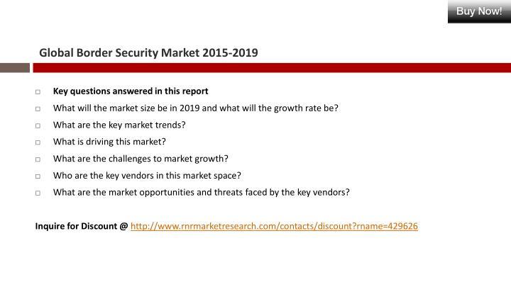Global Border Security Market 2015-2019