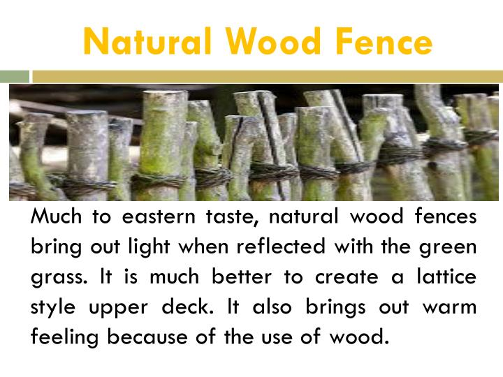 Natural Wood Fence
