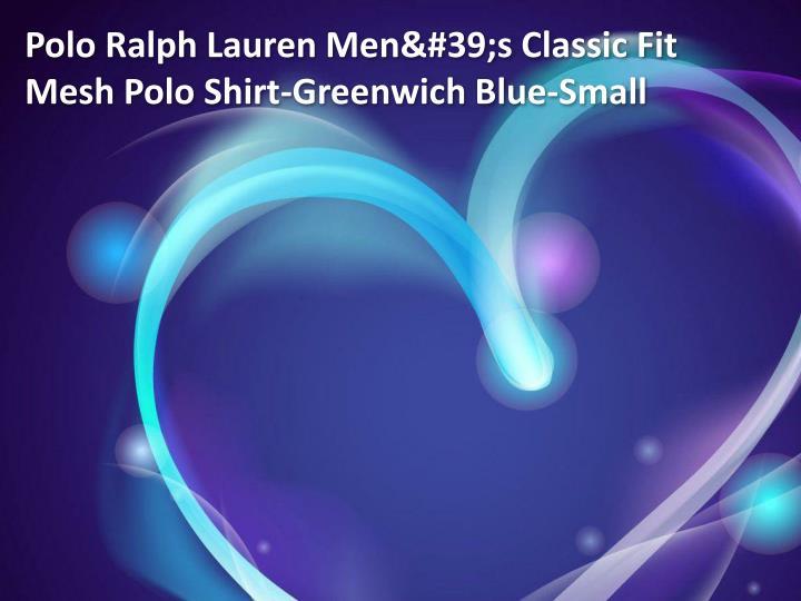 Polo Ralph Lauren Men's Classic Fit Mesh Polo Shirt-Greenwich Blue-Small