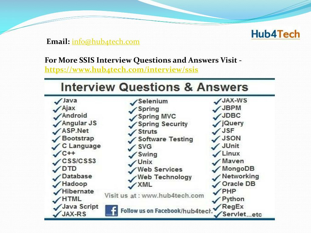 Ssis Interview Question