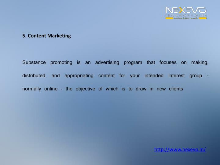 5. Content Marketing