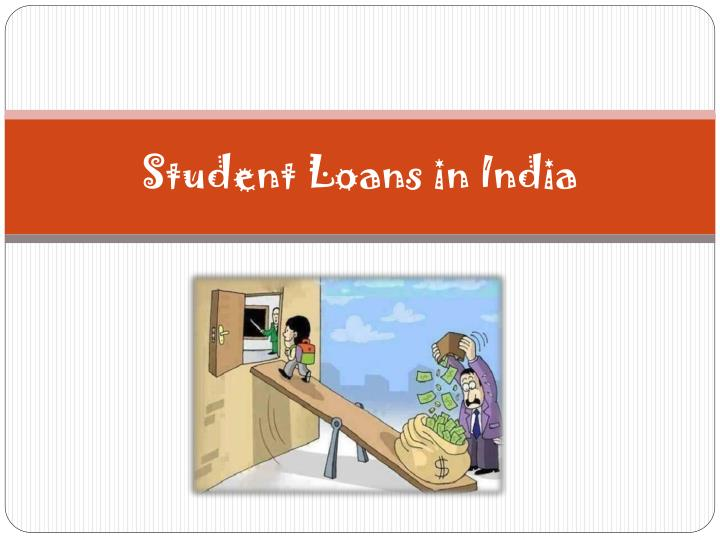 student loans in india n.