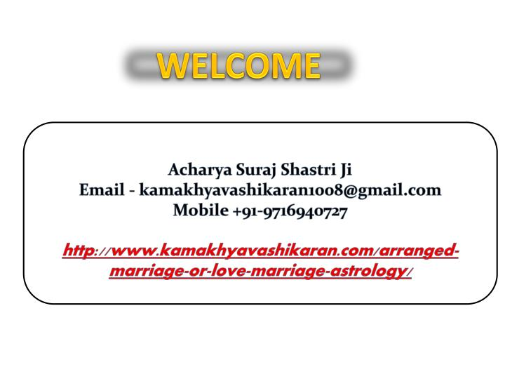 PPT - Arranged Marriage Or Love Marriage Astrology PowerPoint