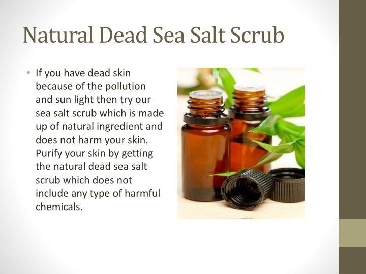 Natural dead sea salt scrub1