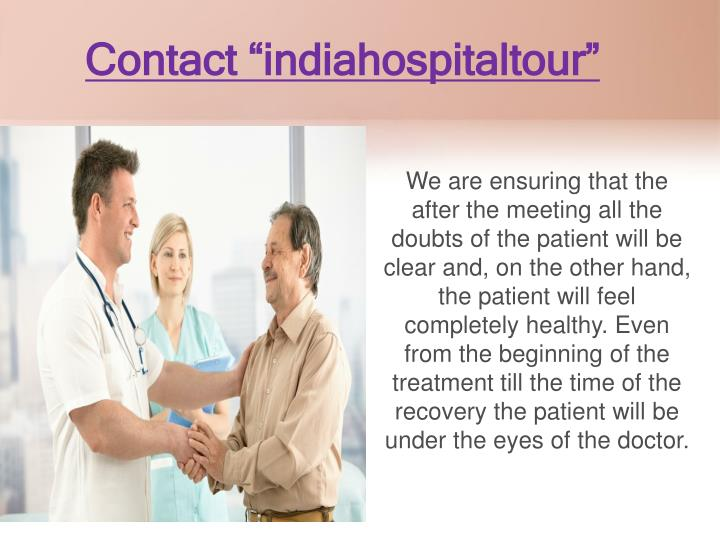 "Contact ""indiahospitaltour"""