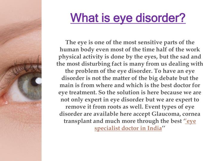 What is eye disorder