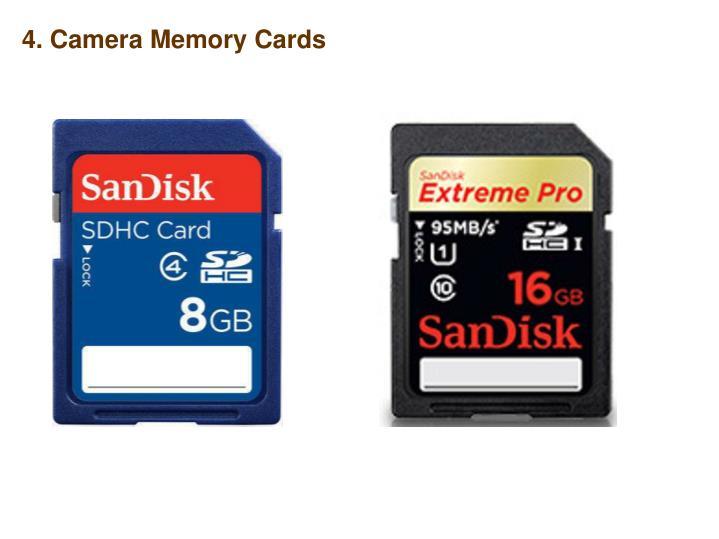 4. Camera Memory Cards