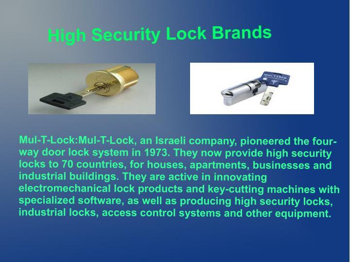 High Security Lock Brands