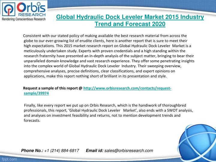 Global hydraulic dock leveler market 2015 industry trend and forecast 20201