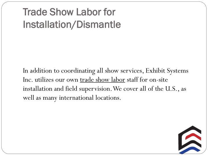 Trade Show Labor for