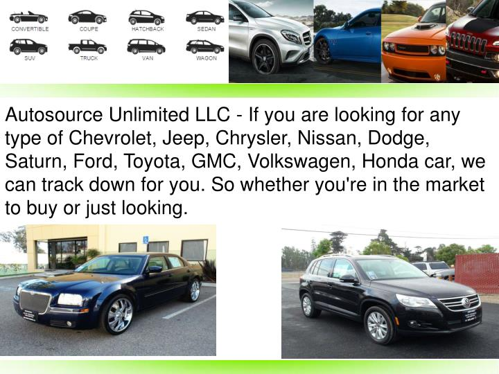 Autosource Unlimited LLC - If you are looking for any type of Chevrolet, Jeep, Chrysler, Nissan, Dod...