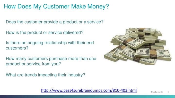 How Does My Customer Make Money?